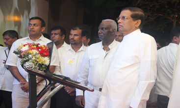 President Maithripala Sirisena lights up Vesak at Nawaloka Hospital